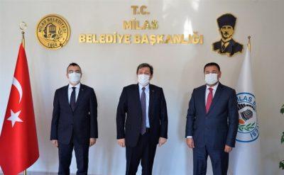 VALİ TAVLI BAŞKAN TOKAT'I ZİYARET ETTİ