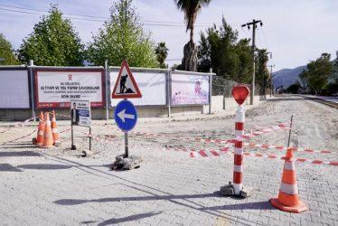 SAHİL BANDINDA YOL ÇALIŞMALARI BAŞLADI