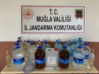 SEYDİKEMER'DE SAHTE İÇKİ OPERASYONU